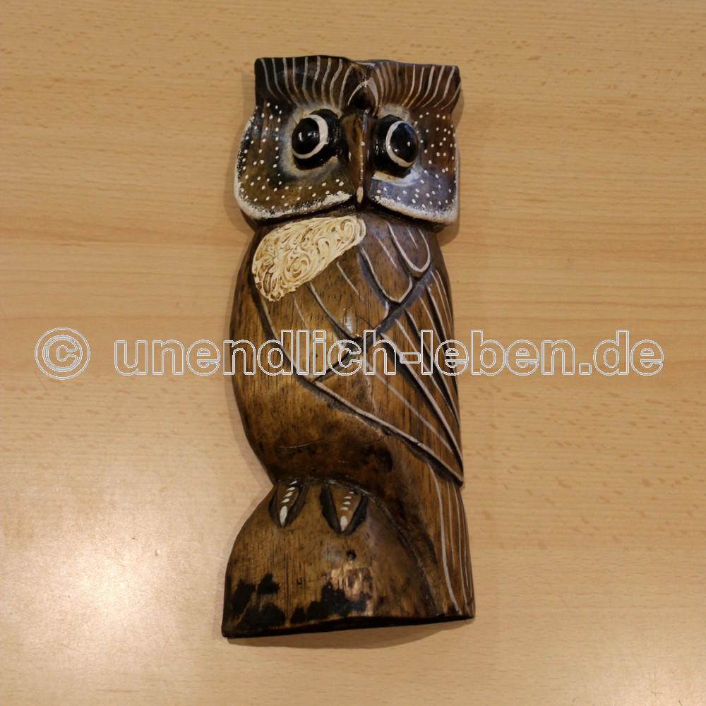 Eule Eulen Holz Tiere Skulptur Deko Tier Figur Esoterik Shop