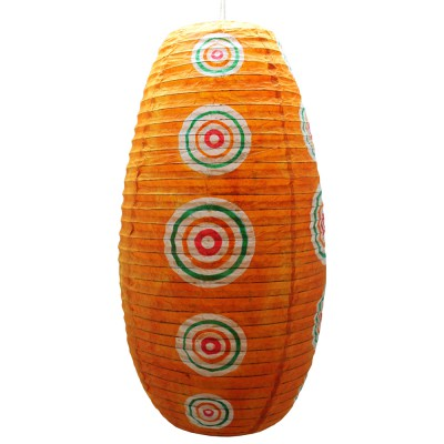 papier lampen schirm orange nepallampe orissa lampe papierlampe. Black Bedroom Furniture Sets. Home Design Ideas