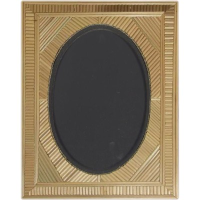 Bamboo mirror with inlays