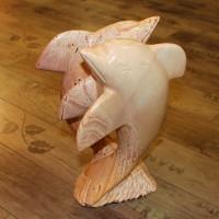 Delfin Paar, Stein massiv - 9 kg, Einzelstück