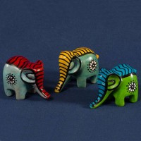 Elephant, soapstone, colorful