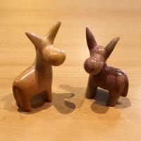 Donkey soapstone figure