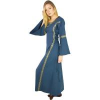 Mittelalter Kleid mit Bordüre