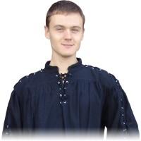 Mittelalterhemd mit Metallösen