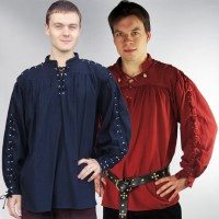 Medieval shirt with metal grommets