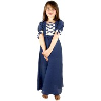"Medieval dress for girls ""Mathilde"" blue"