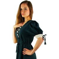"Medieval dress ""Mathilde"" green"
