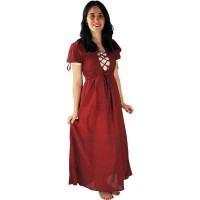 "Medieval dress ""Mathilde"" red"