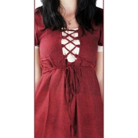 """Medieval dress """"Mathilde"""" red"""