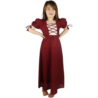 "Medieval dress for girls ""Mathilde"" red"